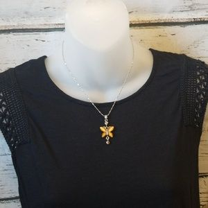 Jewelry - Golden Butterfly Necklace NWOT